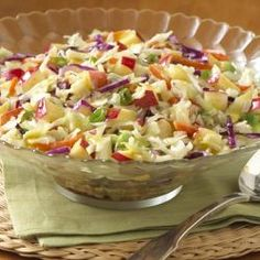 Apple Slaw with Honey Mustard Vinaigrette ... You can whip up this coleslaw recipe before a picnic in only 10 minutes with crisp apple and green onions tossed in a simple dressing featuring honey and spicy brown mustard!