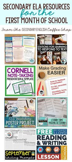Back to School ELA Resources for Middle / High School - Start your new school ye. Back To School Tips For Middle School Middle School Ela, Middle School English, Ela High School, 7th Grade English, High School Reading, High Schools, Ela Classroom, High School Classroom, English Classroom