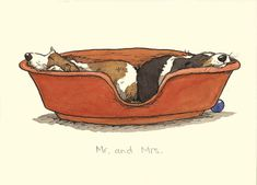 "M""& MR & MRS A Two Bad Mice card by Anita Jeram"