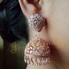 #diamonds #diamondsforever #diamondearrings #jhumkas #indianjewellery #modern #elegant #stylish #stunning #sparkle #jewelry #ilovejewelry…