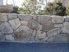 Wall Stone - Natural Fieldstone $75/ton | Reis Asphalt Flat Stone, Dry Stone, Stone Work, Boulder Garden, Garden Stones, Stone Retaining Wall, Stone Fence, Building A Stone Wall, Stacked Stone Walls