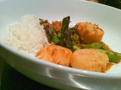 #Scallops in curry