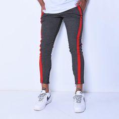 🔥🔥🔥 DOPE Clothing!  Striped Sweatpants Red Side Stripes Regular price $54.99 USD   #menwithclass #menwithstyle #dapper #menfashion #stylemen #ootdmen #luxurylifestyle #casualstyle #stylemen #mensstyle #bosslife #modaparahomens #modamasculina #fashionformen #instafashion Man Fashion, Grunge Fashion, Modern Fashion, Dope Outfits, Casual Outfits, Men Casual, Joggers, Sweatpants, Pinterest Marketing