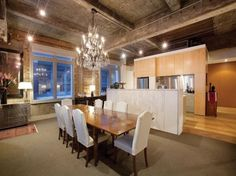 Awesome warehouse conversion - dining room.