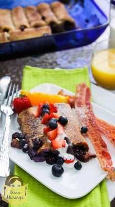 Overnight Stuffed French Toast Roll Ups from Menu Musings of a Modern American Mom.