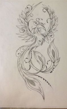 Résultat d'images pour Feminine Phoenix Tattoo Designs Cute Hand Tattoos, Cute Girl Tattoos, Hand Tattoos For Women, Sleeve Tattoos For Women, Unique Tattoos, Body Art Tattoos, Small Tattoos, Ear Tattoos, Symbols Tattoos
