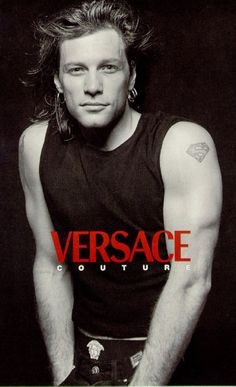 Jon Bon Jovi for Versace couture - photo by Bruce Webber