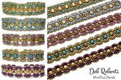 Tila Squared Bracelet and Earrings, Sova Enterprises Woven Bracelets, Seed Bead Bracelets, Crystal Bracelets, Jewelry Bracelets, Seed Beads, Jewelry Crafts, Jewelry Art, Beaded Jewelry, Handmade Jewelry