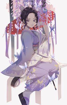 Kimetsu no yaiba shinubo Anime Angel, Anime Demon, Demon Slayer, Slayer Anime, Anime Art Girl, Manga Art, Otaku Anime, Kawaii Anime, Era Taisho