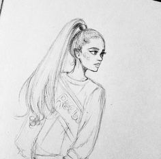♀♡ Pinterest: lil' moonlíght ♡ Easy Doodles Drawings, Doodle Art Drawing, Girl Drawing Sketches, Girly Drawings, Art Drawings Sketches Simple, Cartoon Drawings, Melanie Martinez Drawings, Ariana Grande Drawings, Unicorn Painting