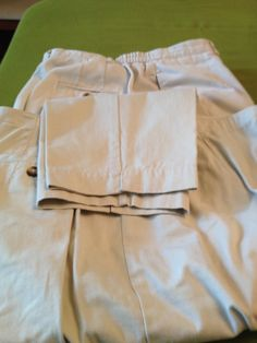 ad38bd418d2 Womens short and long cotton off- white Talbots pants size 16. Five L.