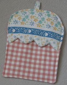 Topflappen in Cupcake-Form (benutzbar wie ein  Handschuh)