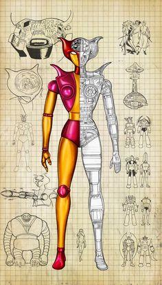 Afrodita: donde todo empezo ..#fembots #robotlov Mazinger