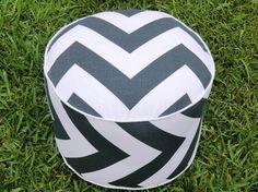 Pouf ottoman floor poufs  big zigzag pattern in by anitascasa, $85.00