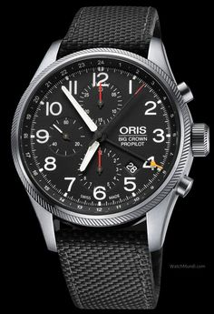 Oris - Big Crown ProPilot Chronograph GMT. Modern cockpit watch loaded with indispensable flight worthy features.