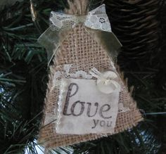 Burlap And Lace Christmas Tree by GTcottagecrafts Lace Christmas Tree, Christmas Crafts To Sell, Christmas Time Is Here, Rustic Christmas, Christmas Ideas, Xmas, Shabby Chic Christmas Decorations, Holiday Fun, Holiday Ideas