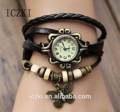 q4106 neue frauen und Mädchen retro lederarmband schmetterling dekoration quarz handgelenk watchs-Uhren-Produkt ID:60002414912-german.alibaba.com