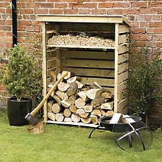 Rowlinson Small Log Store - Garden storage - Sheds & structures - Garden & DIY - Home & garden - Sainsbury's. GBP 109.