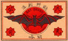 "'Bat Brand'. Bats are a Chinese ""good luck"" symbol."