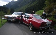 Ford Mustang Shelby GT 350 crashed in Gotthard, Uri, Switzerland