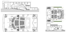 Theater plans – CAD Design   Free CAD Blocks,Drawings,Details Architecture Drawings, Architecture Details, Gym Design, Free Design, Autocad, Theater Plan, Theatre, Auditorium Design, Cad Blocks