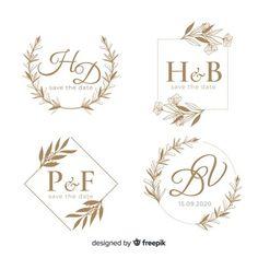 Logo wedding save the date Wedding Mugs, Wedding Hands, Wedding Name, Flower Shop Names, Logo Floral, Free Logo Templates, Wedding Logo Design, Floor Decal, Drawing Frames