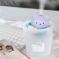 Swim Ring Mini USB Humidifier Air Fresher Mist Maker Difuser for Home & Office WB179 T20
