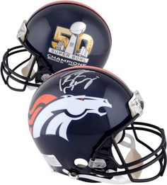 38519587899 Peyton Manning Denver Broncos Autographed Riddell Super Bowl 50 Champions  Pro-Line Helmet - Fanatics Authentic Certified. This Riddell Proline helmet  has ...