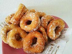 コーヒーマーブルシフォンケーキ by ko~ko Donut Recipes, Bread Recipes, Cooking Recipes, Onion Rings, Sweet Cakes, Sweet Desserts, Coffee Cake, Bagel, Doughnut
