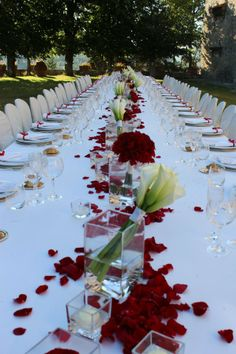 Dinner in the main garden with an imperial table