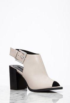 Buckled Block-Heel Sandals | Forever 21 - 2000053174