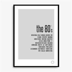 Remember Poster - The 80's - Kreativitum