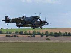 Spitfires at Duxford.  Not these, but lucky enough to sit in a trainer Spitfire after airshow at Folkstone.