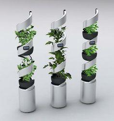 Spiral steel plant pots