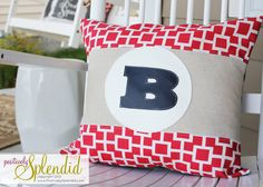 DIY Monogram Pillows with Vinyl Applique | Positively Splendid {Crafts, Sewing, Recipes and Home Decor}