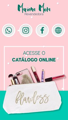 Digital Business Card, Business Card Design, Business Cards, Avon Logo, Apps, Pink Cards, App Design, Mockup, Social Media