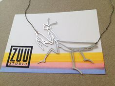 Stainless Praying Mantis Necklace by ZuuStudioShop on Etsy, $58.00