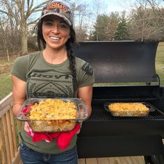 I have a pretty awesome wife! She hunts and cooks, hard to be that! Today She made me a healthy version of my favorite dish, Tuna Noodle Casserole on the @traegergrills check it out the full recipe on our blog wildgamewildgains.blogspot.com Reposted Via @bowmarbowhunting
