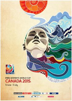 The official poster of Women's World Cup 2015 in Canada. (FIFA)