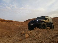 JEEP: Black Wrangler on Rocks