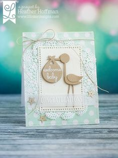 05 Welcome Baby by housesbuiltofcards - Cards and Paper Crafts at Splitcoaststampers New Baby Cards, Baby Shower Cards, Baby Kind, Paper Decorations, Paper Cards, Scrapbook Cards, Scrapbook Layouts, Scrapbooking, Handmade Baby