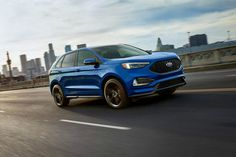 The photo is Couresty of Ford Media. The all-new 2019 Ford Edge can be found at Planet Ford in Spring, Texas. Ford Ecosport, 2019 Ford, Ford Suv Models, St Logo, Automotive Group, Ford Edge, Ford Expedition, Ford Motor Company, Autos