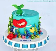 Ariel - how creative is this?  I love her tail coming out of the top!  Cake Wrecks - Home - Sunday Sweets: PrincessParty!