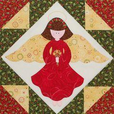 Christmas Angel Quilt Block