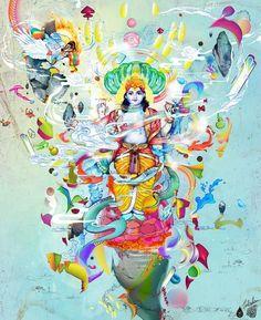 """Vishnu sleep in the cosmic ocean without shore. And we are the mater of his dreams. Life of Pi """"Vishnu duerme en el océano cósmico sin orilla, y somos la materia de sus sueños."""" - La Vida de Pi"""
