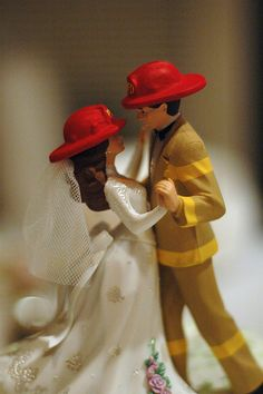 Firefighter Wedding Caketopper
