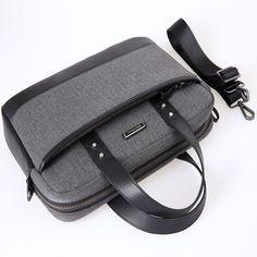 "Superior Quality Designer Shockproof Eco-Friendly Genuine Leather Waterproof Laptop Carrying Case w/Handles & Shoulder Strap 13-14"""