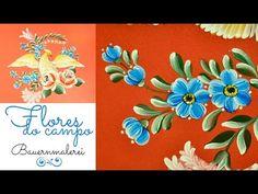 Atelier Gina Pafiadache: Pintando um risco completo - Pássaro com flores - Flores do campo - Parte 5 de 5