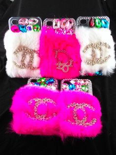 FREE SHIPPING iPhone 4 Designer Logo fur Cell Phone Case Pink White in Cell Phones & Accessories | eBay