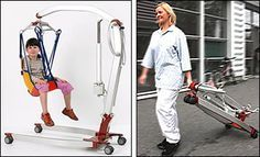 Patient Lift - Portable, Lightweight and Electric - made of aircraft aluminum